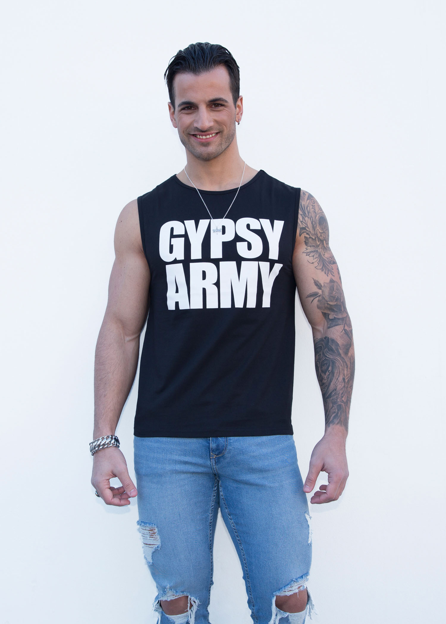 e31b87a1c0526e Tank Top, print Gypsy Army black - Kings of Fashion